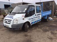56/07 transit tipper double cab