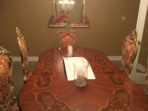 ITALY Baroque Venezia Dining Room set - 9 pieces