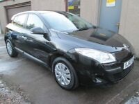 Renault Megane Generation 1.6 100ps,47672 MILES,MOT'D,SERVICED,WARRANTIED & AA (black) 2010