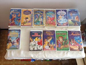 Disney VHS Black Diamond & Masterpiece - PRICE DROP $3.50 +