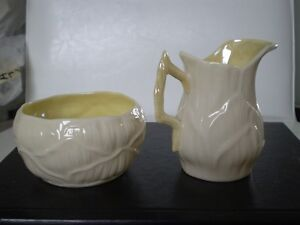 Belleek Porcelain Lily Cream and Sugar Kitchener / Waterloo Kitchener Area image 3