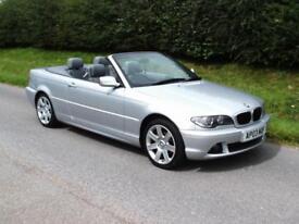 2003 BMW 318 CI 2.0 MANUAL CONVERTIBLE, Silver, Aircon, Cd Player, Alloys