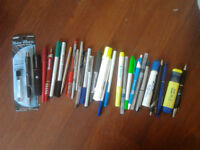 Office pens and pencils