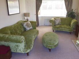 DFS SOFA SET. 3seater sofa, 2seat cuddler + foot stool