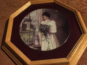 Framed James Lumbers Collector Plate The Locket