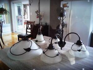 Luminaires suspendues (ensembles de 4)