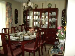 Rosewood Dining Room Set Withbuffet And Hutch