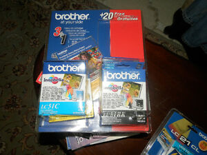 BROTHER LC51 Inks cartridge sealed. Black and colors, all 4 Inks