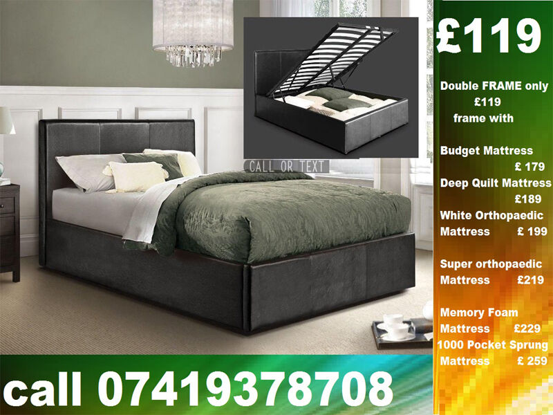 Amazing Offer DOUBLE storage leather BaseBeddingin Watford, HertfordshireGumtree - Amazing Quality of Furniture available at lowest cost possible....We Deal in Divan and Leather Beds We Have Single, Double, Small Double sizes available in Beds and other variety you wouldnt get that from anywhere else You can contact Us any time On...