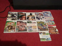 large selection of Wii games