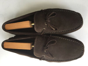 Men's Suede Brown Driver Loafer Shoes