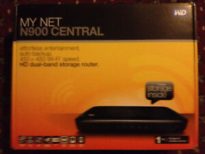 WD My Net N900 Central HD Dual Band Router 1TB Storage WiFi Wire