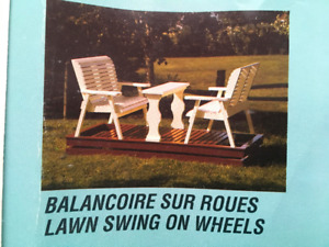 Lawn Swing on Wheels kit