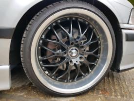 18 inch Deep Dish Bmw Alloy Wheels & Tyres - e36 e46 e60 5 series bbs