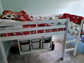 Mid sleeper shorty bed with mattress