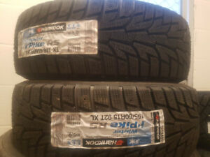 2 New 195-60-15 Hankook iPike RS Winter Tires