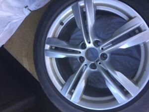 4 pneus d'hiver runflat pirelli scorpion  jantes 255/50/R19 BMW
