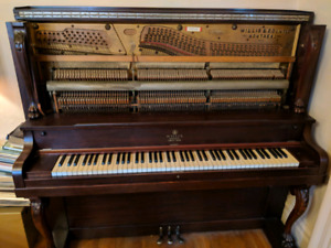 Antique Ornate Willis Cabinet Grand Piano For Sale - Pristine