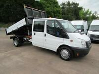 2014 64 Ford Transit 350 125 Bhp Crew Double Cab Tipper Alloy Dropside Pick up
