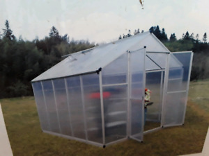 NEW TWIN WALLED TMG 8' BY 10' INDUSTRIAL GREEN HOUSE