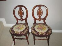 2 Antique Pettipoint Chairs
