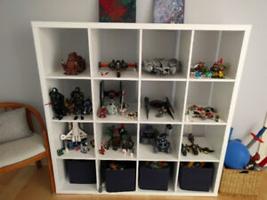 White Ikea 16 cubby shelf