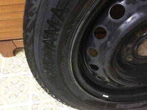 Snow tires and rims - like NEW