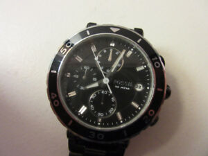 Women`s Fossil CH2579 chronograph designer watch, black dial