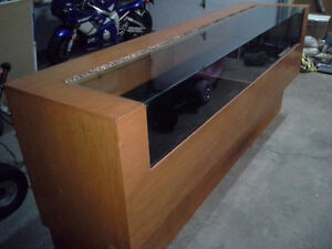 Wood and glass display cases
