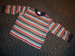 Boys Size 18 Months Striped Long Sleeve T-Shirt by Disney