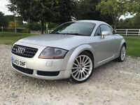 2003 Audi TT Coupe 1.8 225bhp quattro Petrol Coupe Manual in Silver