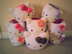 Hello Kitty Plush Baskets
