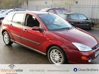 FORD FOCUS GHIA AUTOMATIC, Red, Auto, Petrol, 2000 MOT-05-2017 FULL HISTORY