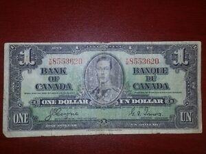1937 Canadian One Dollar Bill