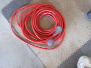 50 foot rv extention cord standard 30 amp ends, light in ends