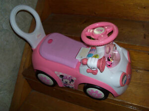 Toddler, ride on, Minnie..interactive play...