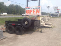 "NEW PRICE * 2 Ton - NEW PAINT + NEW TIRES - 74"" X 9' ft Trailer"