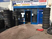 TYRE SHOP - CAR & VAN TYRES - NEW TYRES & PART WORN TYRES . PARTWORN USED TIRES FITTED