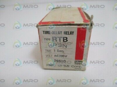 Idec Rtb-mp3n Time-delay Realy Ac200c 1sec. New In Box