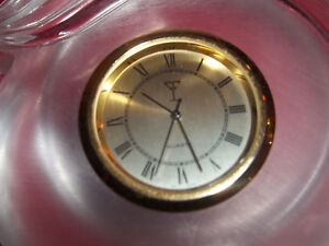 Vintage handcut 24% lead crystal clock deco style made in German West Island Greater Montréal image 2