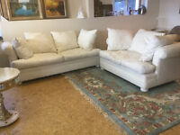 Off White Couch and Love Seat