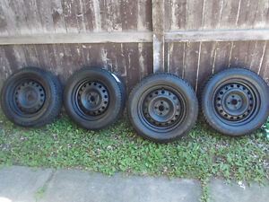 195 65 R15 studed winter tires and rims