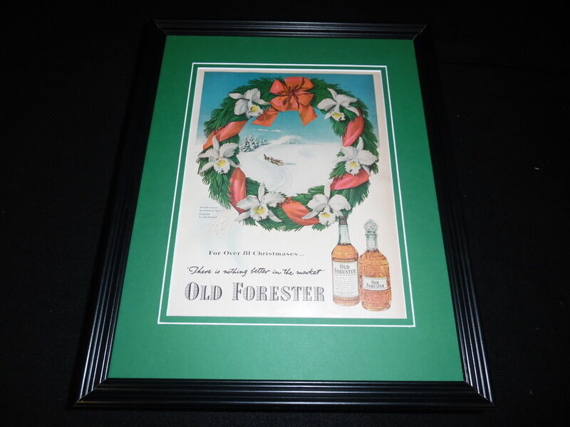 1951 Old Forester Framed 11x14 ORIGINAL Vintage Advertisement