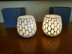 Partylite Champagne Glow Votive Holders new!