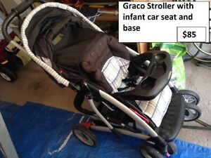 Graco Stroller with Infant Car Seat and Base