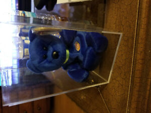Blue TY beanie baby cuddy 1998