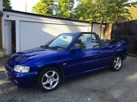 1997 R FORD ESCORT GHIA CABRIOLET CONVERTIBLE LOW MILES MOT 1 YEAR PX