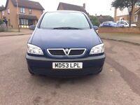 Vauxhall Zafira 1.6 53 2003 7 Seater