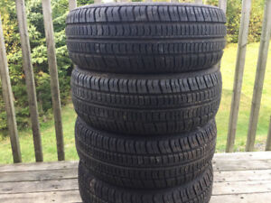 Four P195/60R14 Winter Tires