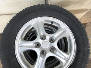 4Rims and Tires. We're on a 2005 Mitsubishi Outlander